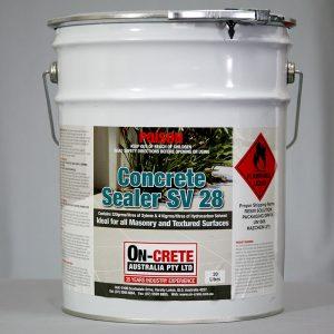 Exposed aggregate concrete sealer